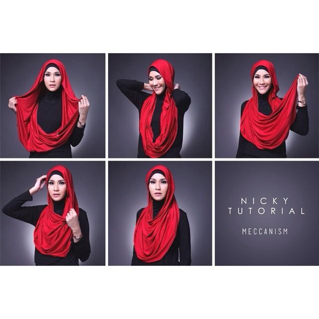23 Tutorial Hijab Zaskia Adya Mecca: Pashmina, Segi Empat ...