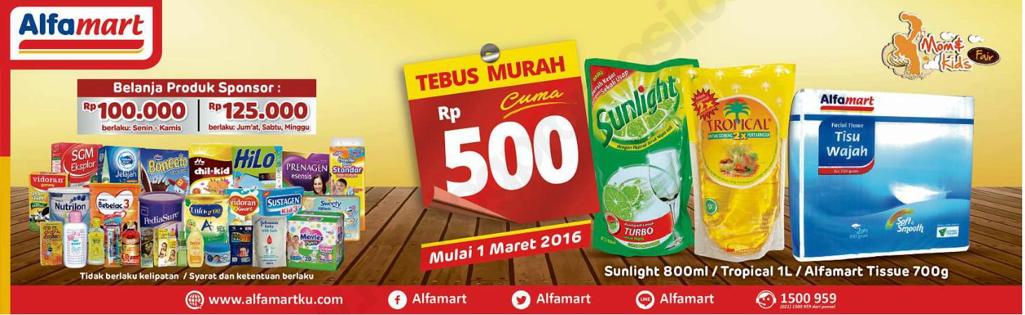 Promo Alfamart Terbaru Tebus Murah Hanya Rp 500 Mulai 1 Maret 2016