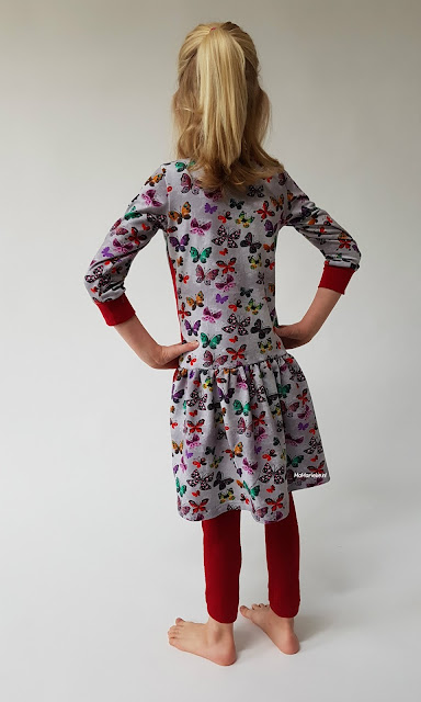 achterzijde Foras jurk Sofilantjes gerimpelde rok MaMarieke