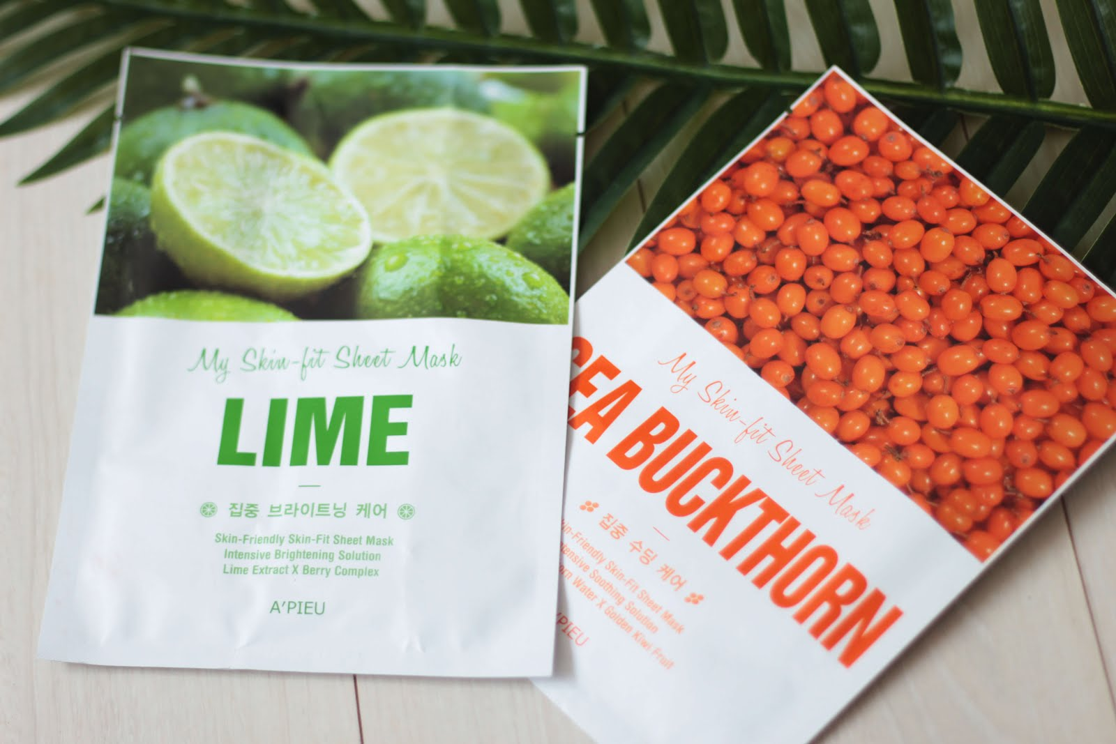 a'pieu korean skincare sheet masks