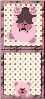 Lovely Girl Bear with Heart: Free Printable Candy Bar Labels.