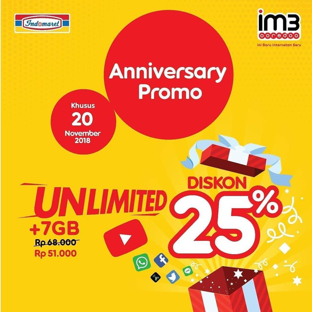 Indomaret - Promo Diskon 10% s.d 25% Pulsa IM3 Axis XL (s.d 24 Nov 2018)