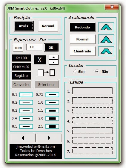 Smart OutLines 2.0 PtBr Interface
