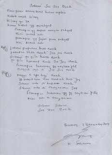 lagu Jokowi Jos Jos Donk