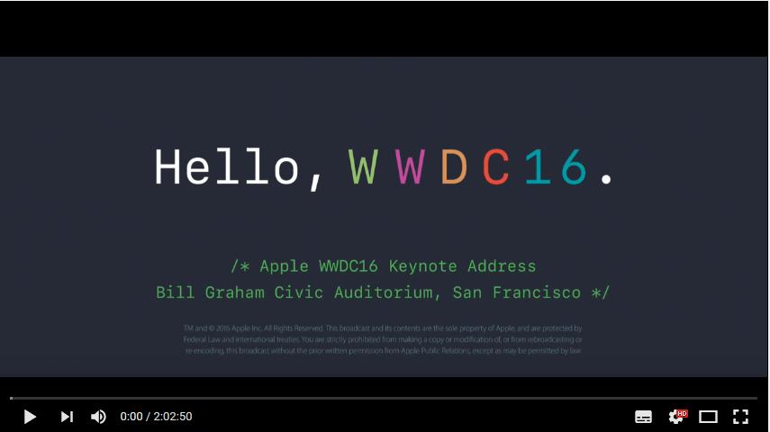 Apple WWDC 2016: il video integrale del Keynote da HTNovo