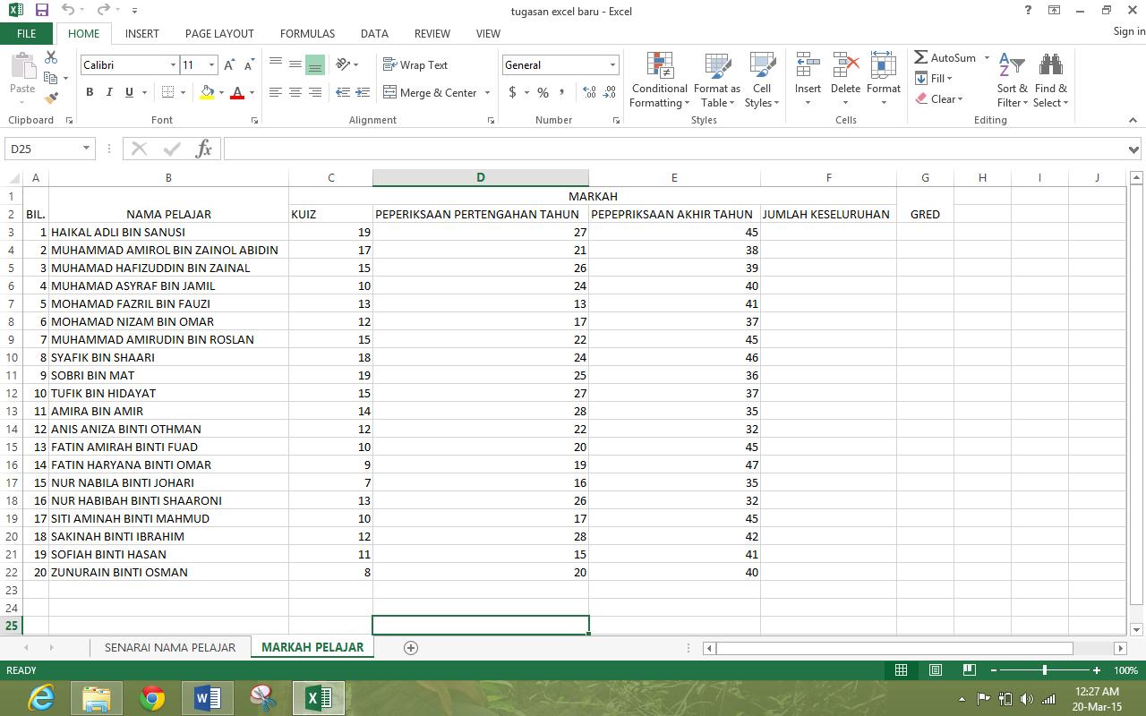 Blog Cikgu Hus Cara Cara Menggunakan Excel