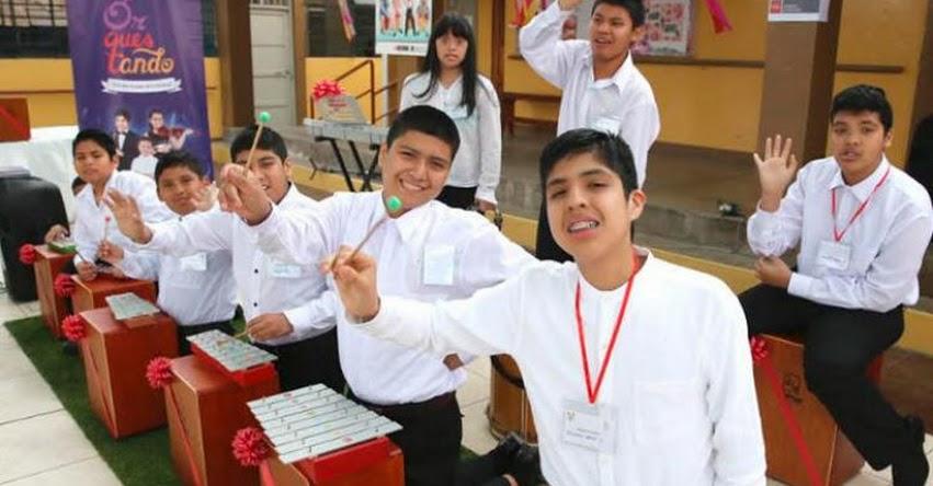 MINEDU entregó instrumentos musicales a estudiantes con discapacidad - www.minedu.gob.pe
