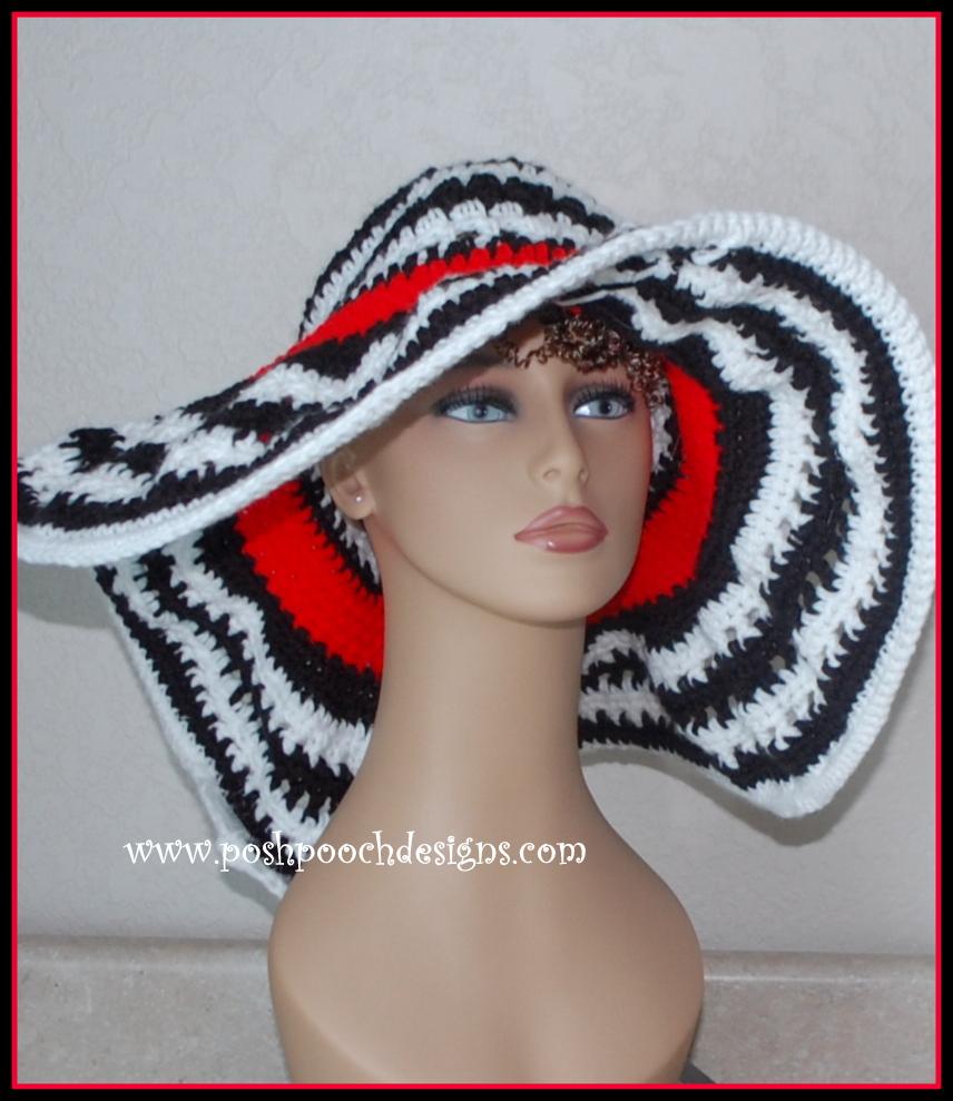 Posh Pooch Designs Dog Clothes: Kentucky Lady Hat Free Crochet ...