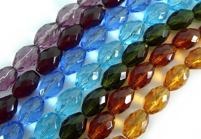 fire polished crystals oval beads