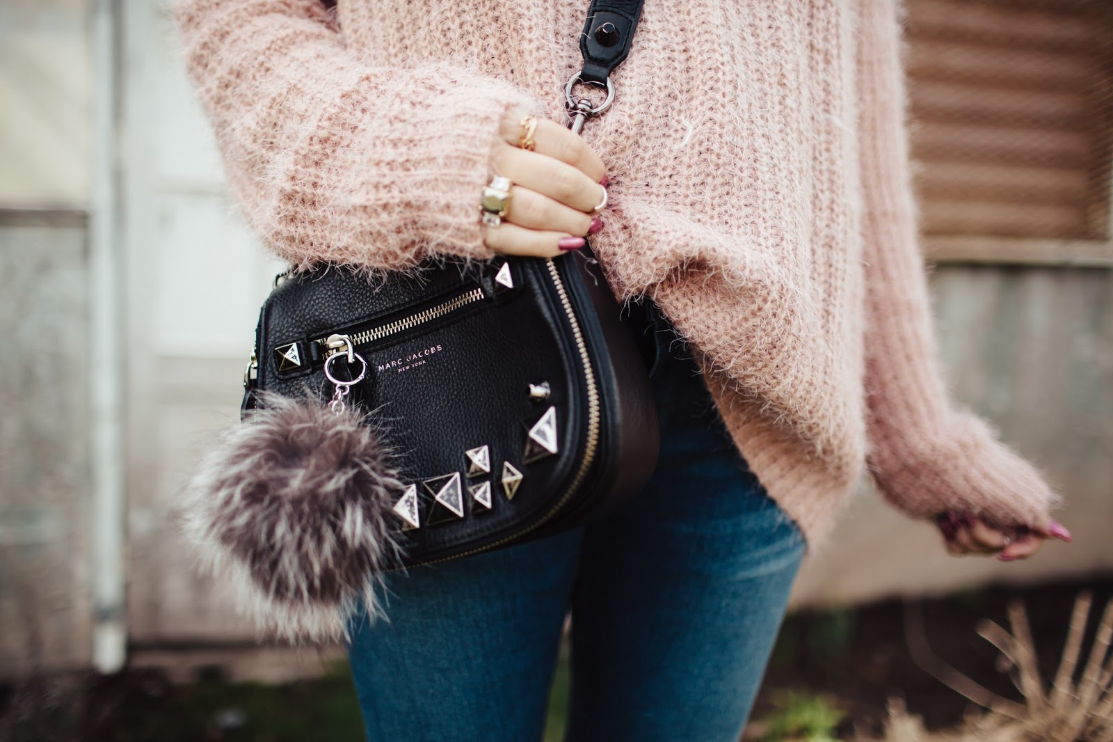 Marc Jacob Bag, Black Bag, Studded Purse