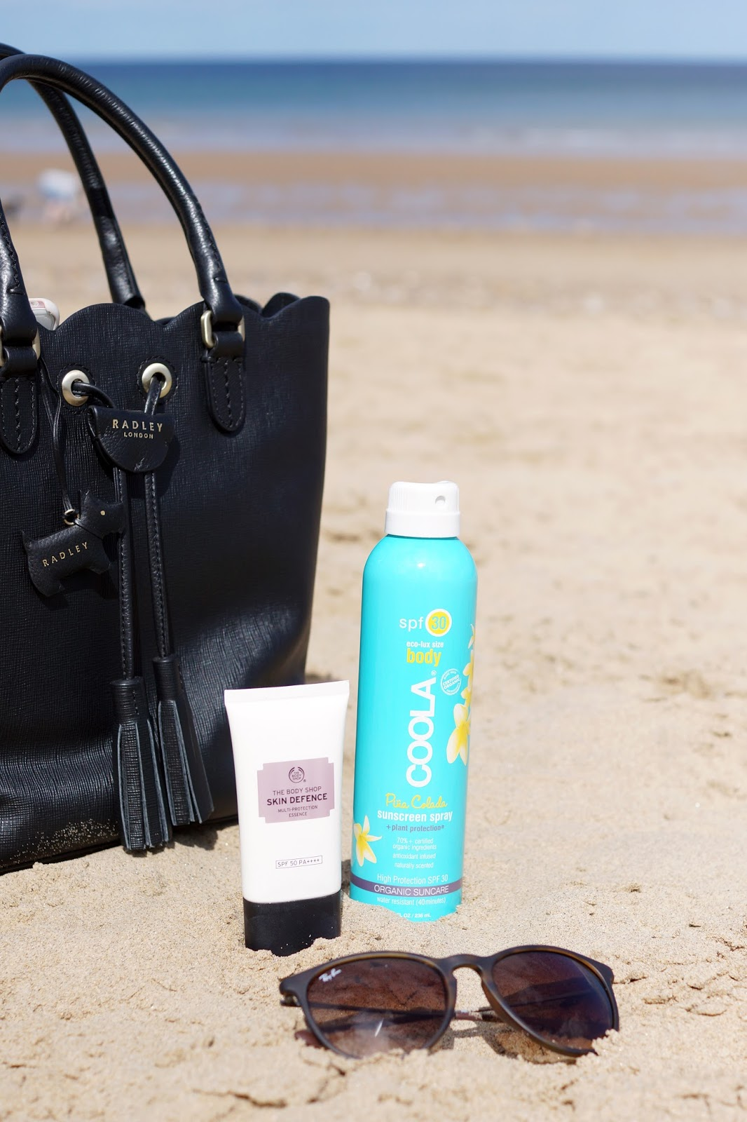 Hello Freckles Sun SPF Summer Party Essentials RayBan Radley Bag
