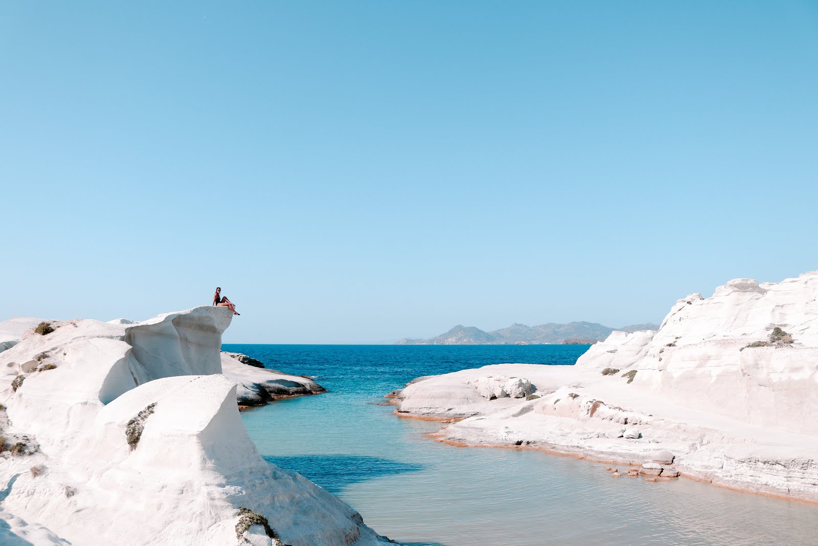 Sarakiniko Beach Cliffs in Milos island, Greece