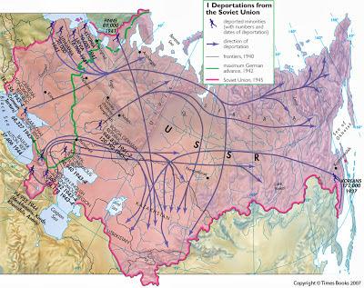 Juin 1941: destinations des deportes sovietiques