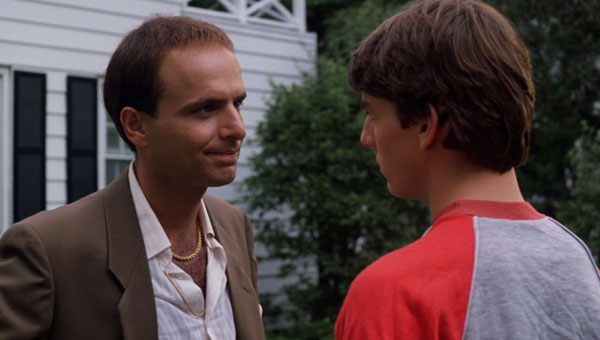 Joe Pantoliano and Tom Cruise in Risky Business