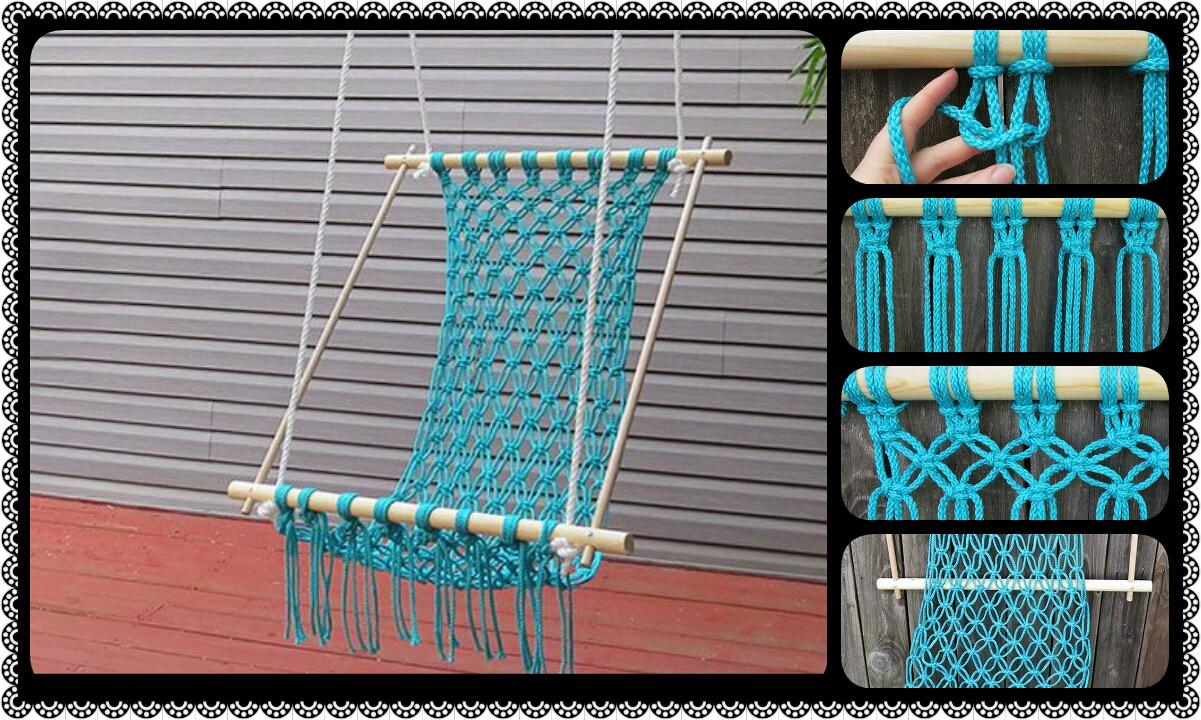 How to make a macrame hammock crazzy craft for Diy macrame hammock