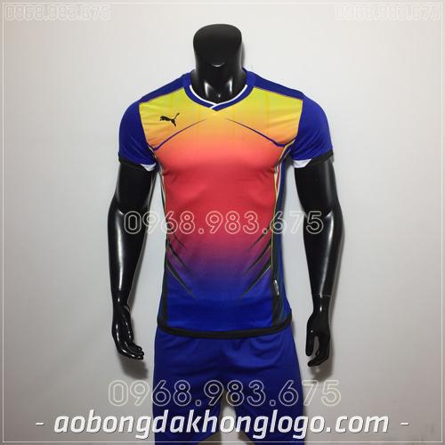 Áo bóng đá không logo Puma HQN Luka màu xanh
