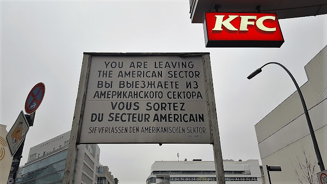 Checkpoint Charlie placard of the american sector