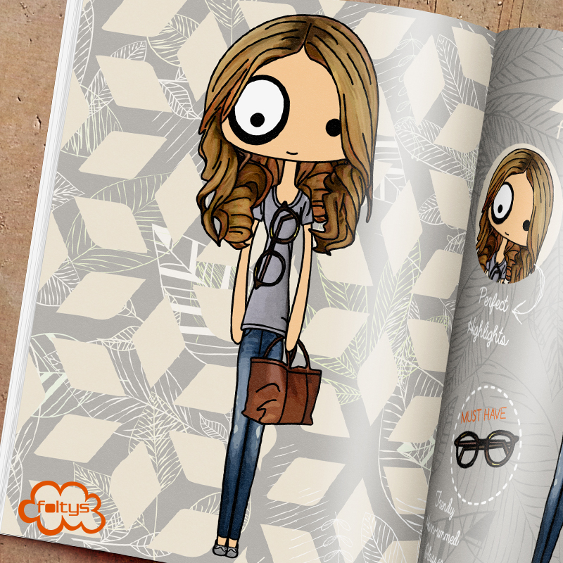 ilustración original | original illustration foltys vs the basic outfit (tazas, carcasas y libretas) (mugs, phone cases and notebooks)
