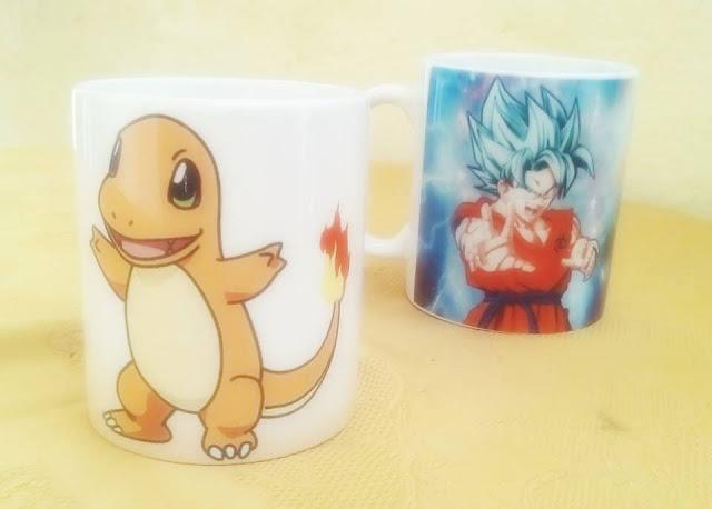 Pokemon Charmander Goku Dragon Ball Magic Mug Taza Mágica