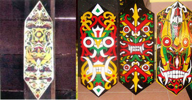 Kelembit adalah perisai yang terbuat dari kayu yang ringan dan kuat serta dihiasi dengan u Kelembit Perisai Suku Dayak
