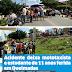 Acidente deixa mototaxista e estudante de 11 anos ferida em Queimadas