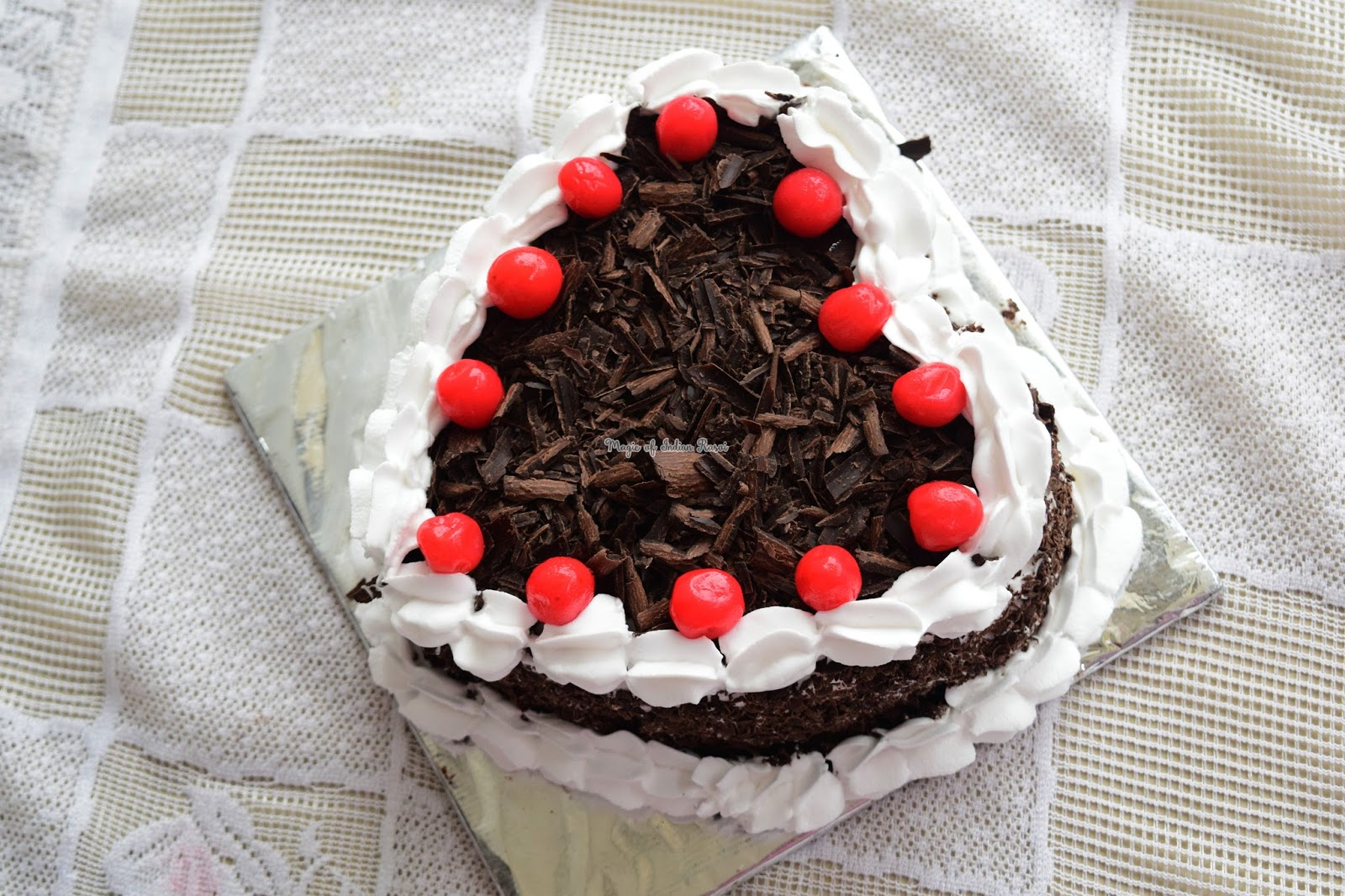 Perfect Black Forest Cake (Eggless) Recipe - परफेक्ट ब्लैक फॉरेस्ट केक (एगलेस) रेसिपी - Priya R - Magic of Indian Rasoi