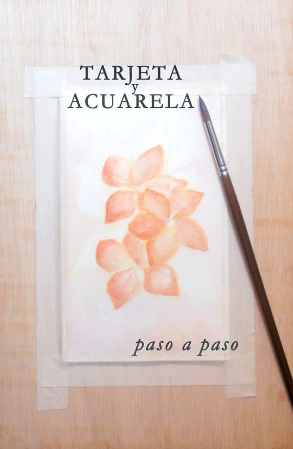 Pinta una tarjeta de flores con acuarelas