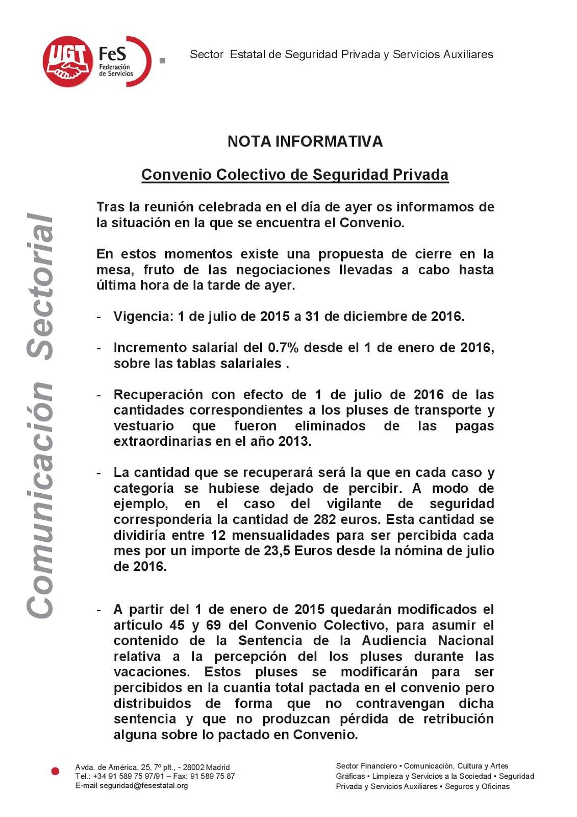 Sindicato s p v julio 2015 for Convenio colectivo oficinas y despachos sevilla