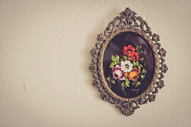 Pretty floral oil painting