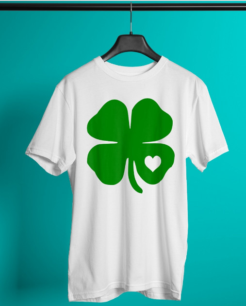 Irish Shamrock Green Clover Heart St Patrick Day T Shirt Hoodie Sweatshirt