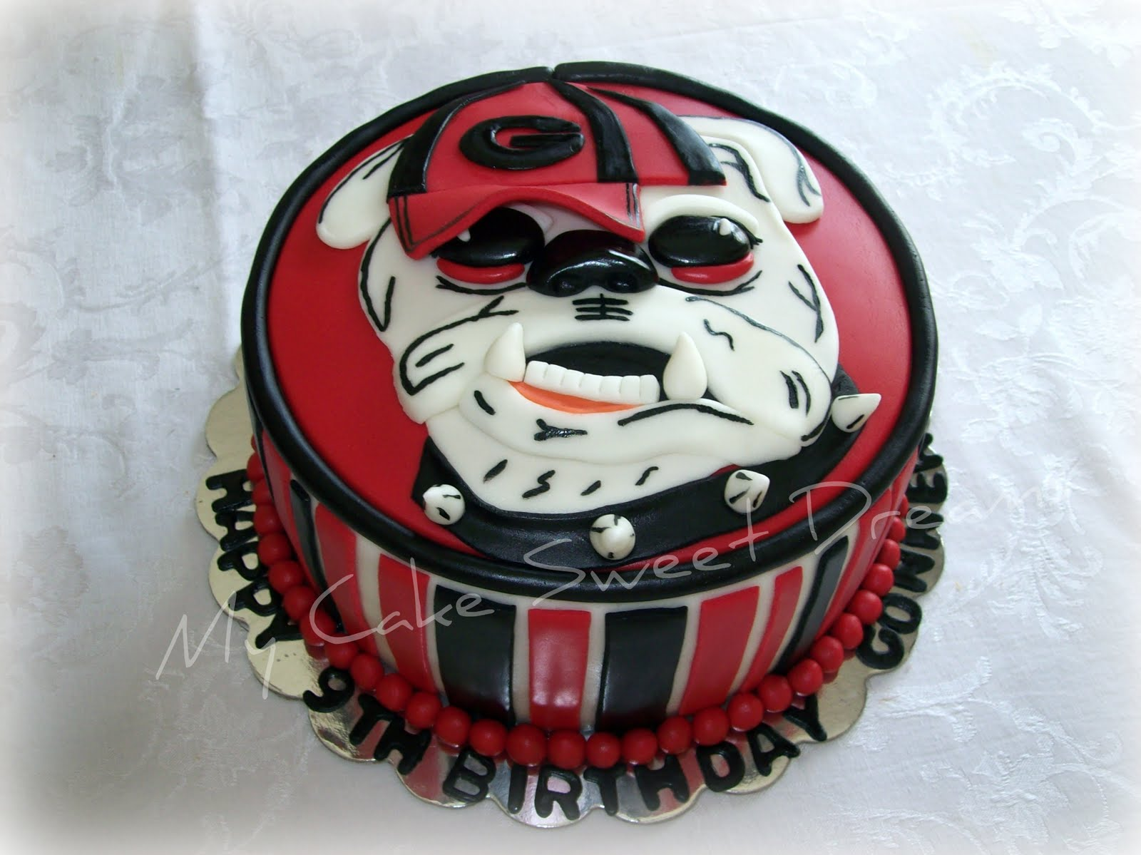 Georgia Bulldog Happy Birthday Cake