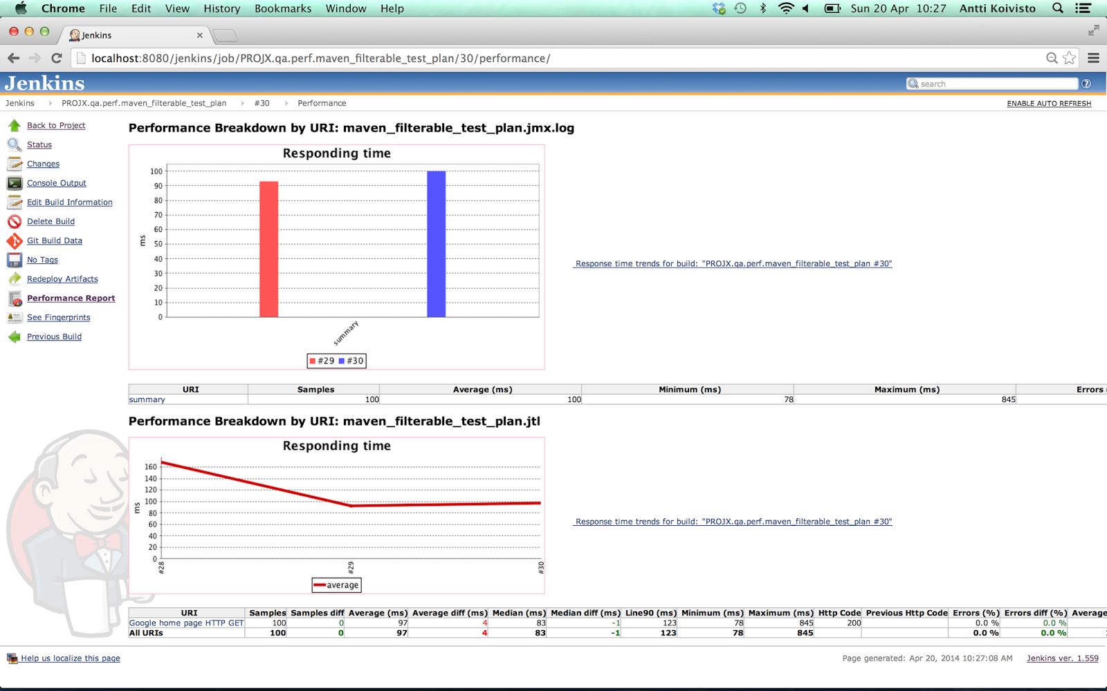 Single Page Information Radiator App for Jenkins   Antti