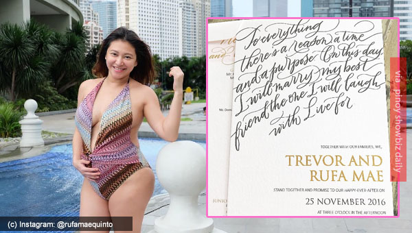 Rufa Mae Quinto posts wedding invitation