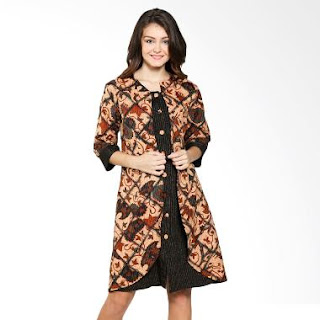 Model Baju Batik Kerja Kombinasi Dress