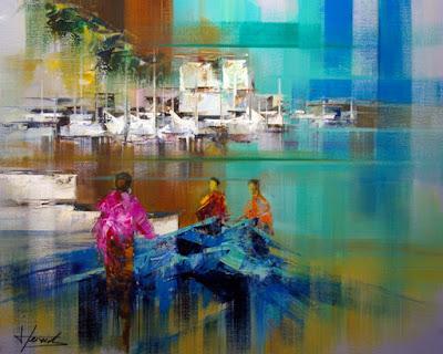 cuadros-marinos-abstractos-pintados-con-espatula+paisajes-marinos-abstractos-modernos+cuadros-paisajes-con-barcas-del-mar+paisajes-marinos-abstractos-al-oleo