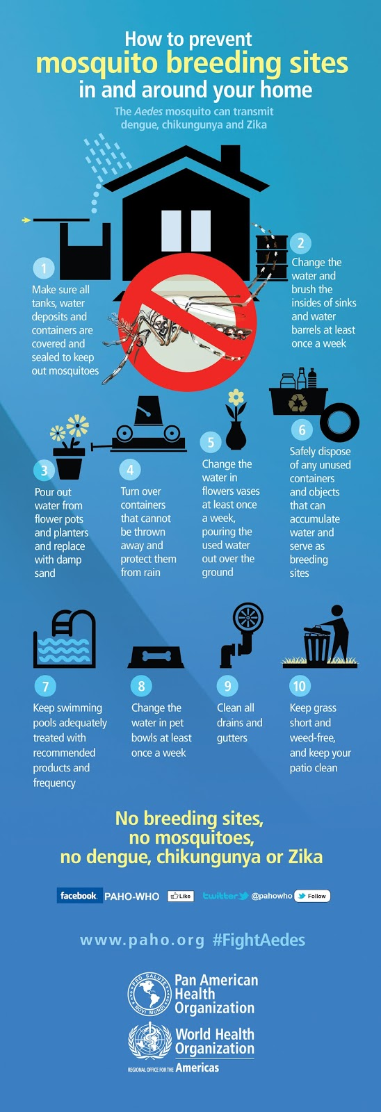 Preventing Mosquito Bites, Infographic, WHO