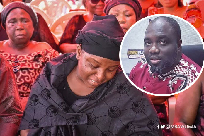 KABA's Wife Valentina weeps uncontrollably at KABA's one-week Celebration