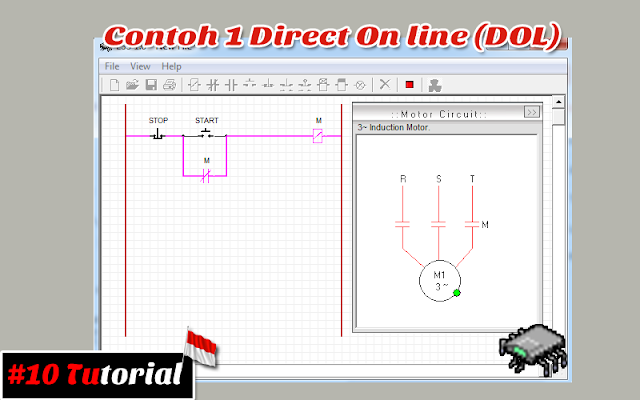 Contoh 1 Direct On line (DOL) | Tutorial bahasa Indonesia #10
