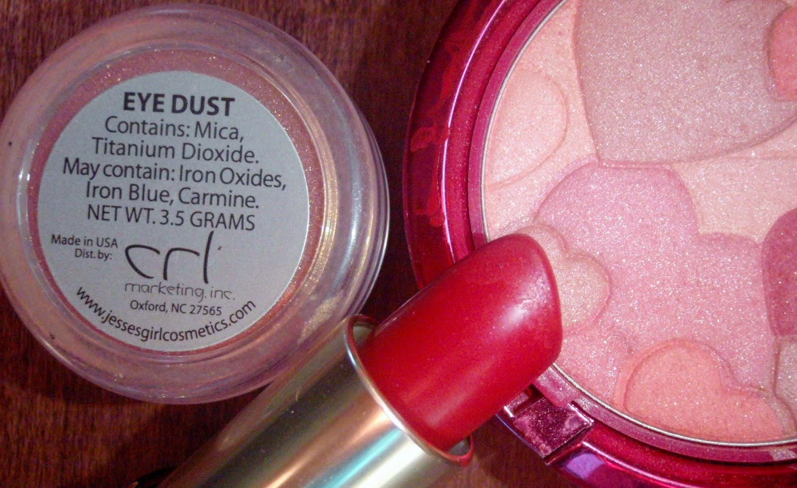 pink and red cosmetics