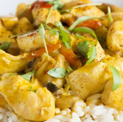 slow-simmered curried chicken