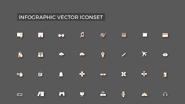 The Infographic Vector icons are stunning iconset of Specialized in Powerpoint.All of Infographic icons are not included line but only shapes