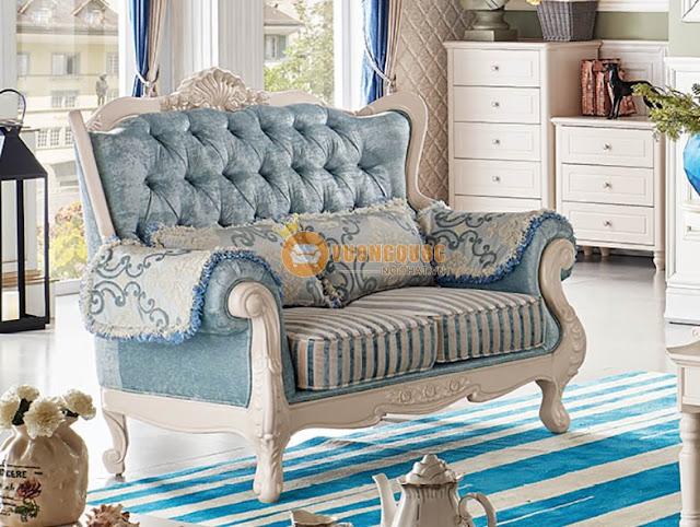 ghế sofa phòng khách tân cổ điển