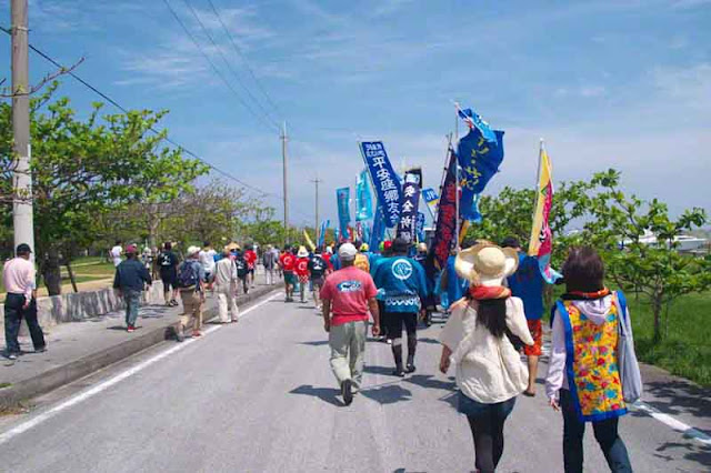 parade, procession, festival, Sanguacha, Henza, Okinawa, island