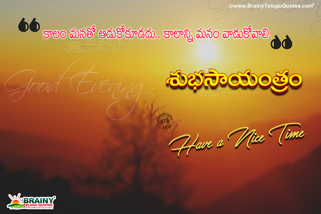 inspirational good evening quotes in Telugu, Telugu subhasayantram, most inspirational qutoes