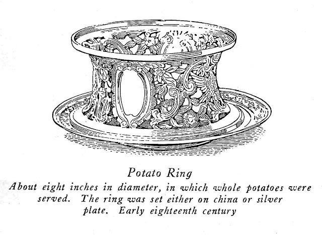 silver potato ring 1700s