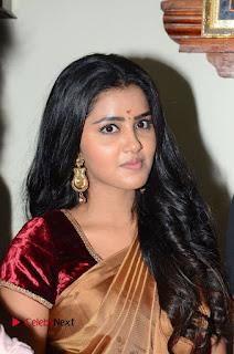 Actress Anupama Parameswaran Stills in Silk Saree with Shatamanam Bhavati Team at Sandhya Theater  0013.JPG