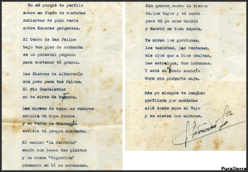 Poesía dedicada a la moza serrana