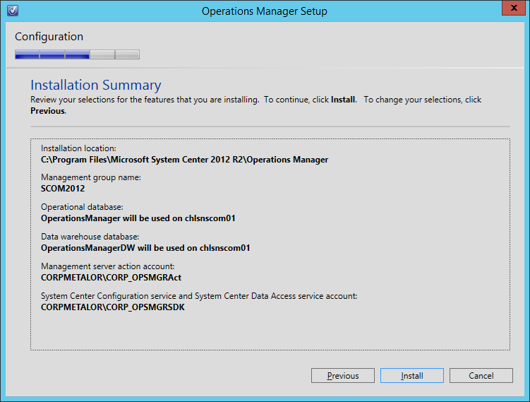 IT System Center and Virtualization: How to install SCOM 2012 R2