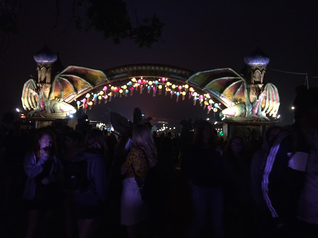 The Park at night - Glastonbury 2017