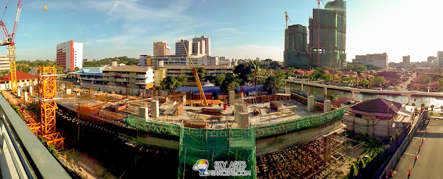 Panoramic view of Malacca City captured using Samsung GALAXY S4 Zoom